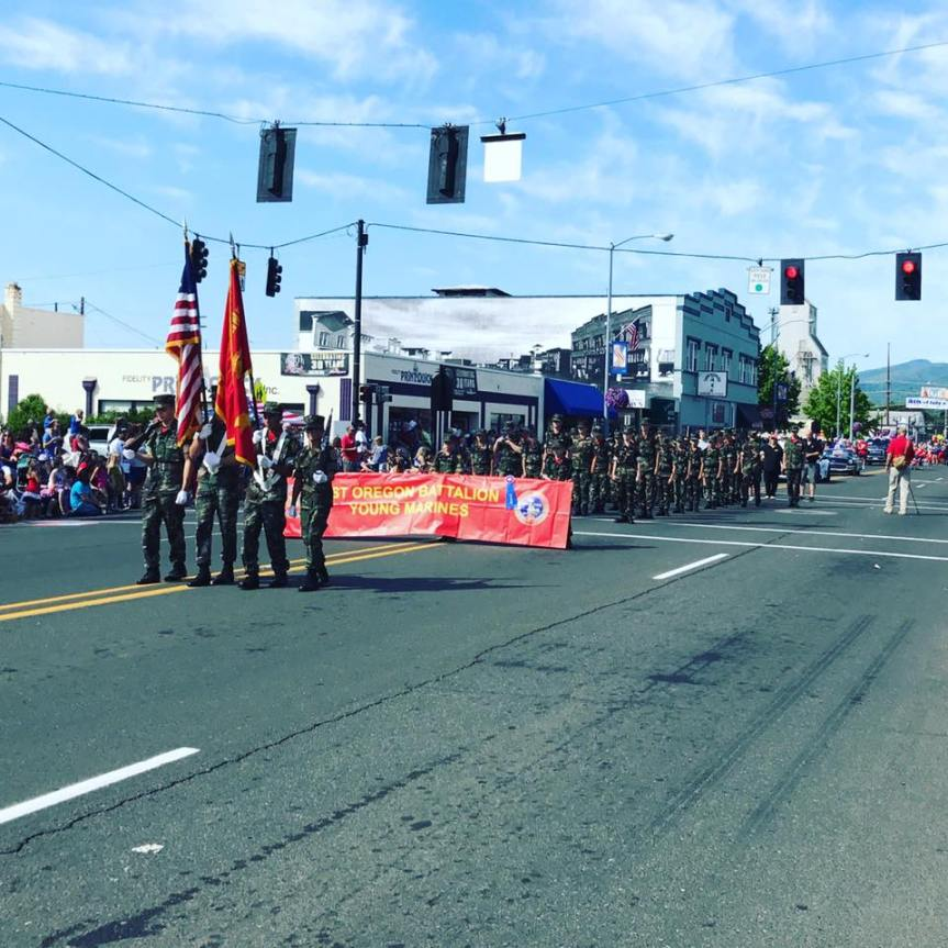 Red White and Boom Color Guard!